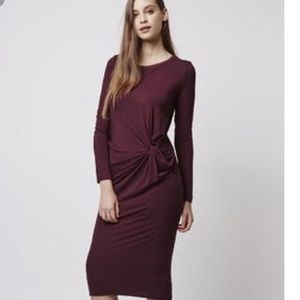 {Topshop} Knotted Front Dress